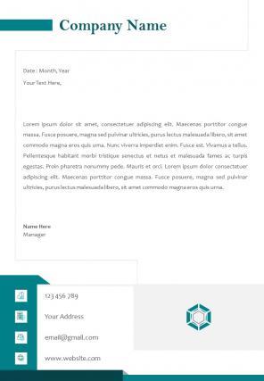 Corporate Business Letterhead Design Template