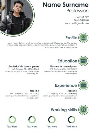 Corporate Infographic Resume Design With Achievements And Hobbies