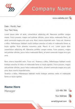 Creative Corporate Letterhead Design Template