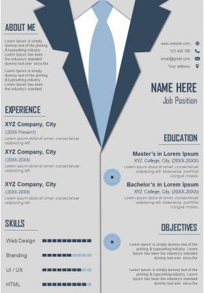 Creative Curriculum Vitae Sample A4 Resume Template