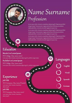 Creative Design Infographic Resume Template For Corporate Professionals