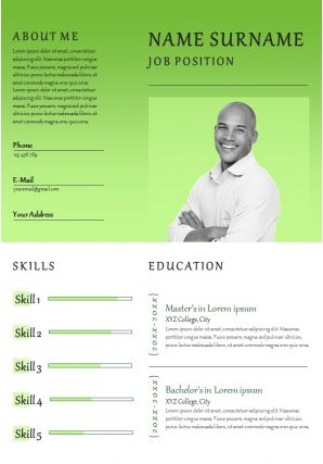 Creative Resume Powerpoint Template With Work Experience