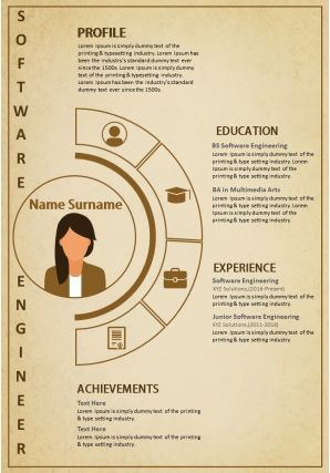 Creative Resume Template A4 Size 2 Pages Infographic CV For Engineers Marketers