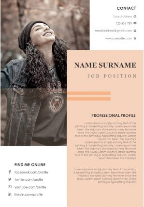 Creative Visual Resume Powerpoint Infographic Template