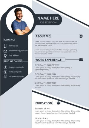 Curriculum Vitae Example For Professionals