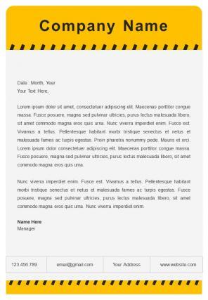 Custom Construction Letterhead Design Template
