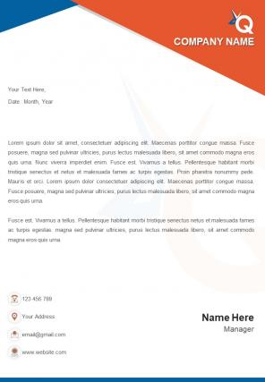Education And Teaching One Page Letterhead Design Template
