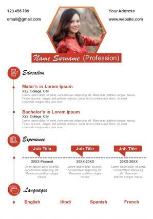 Elegant Resume Design Powerpoint Template For Professionals