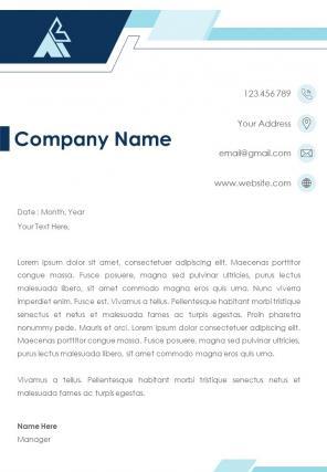 Employment Letterhead Design Template