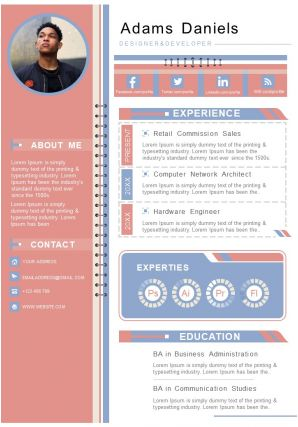 Example Resume Template With Jobs Description