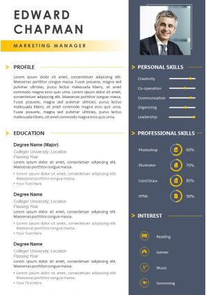 Example Resume Template With Skills Summary