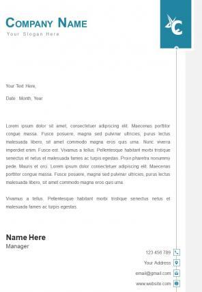 Finance Company Letterhead Design Template