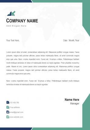 Finance Consultant Single Page Letterhead Design Template