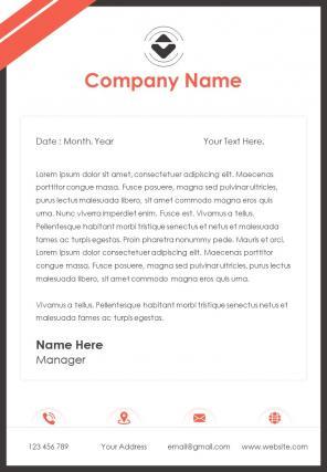 Financial Letterhead Design Template