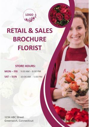 Florist Services Four Page Brochure Template