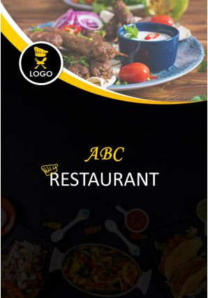 Food Menu Design Four Page Brochure Template
