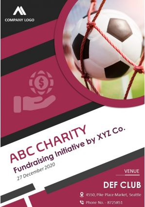 Fundraising Charity Event Four Page Brochure Template