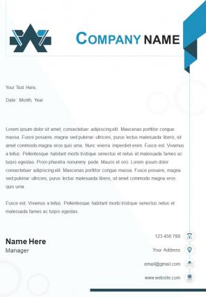 Graphic Design Sample Letterhead Design Template