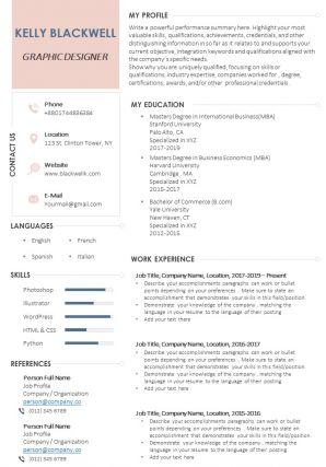Graphic Designer Resume Sample Format