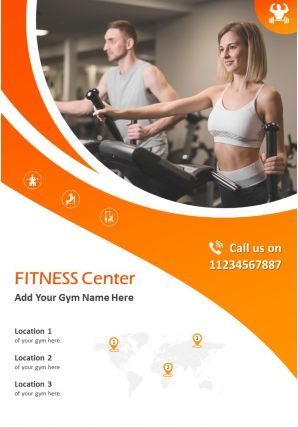 Gym Marketing Flyer Two Page Brochure Template