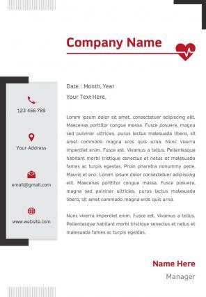 Healthcare Letterhead Design Template