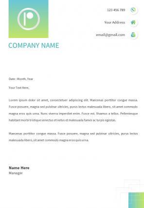 HR Letterhead Design Template