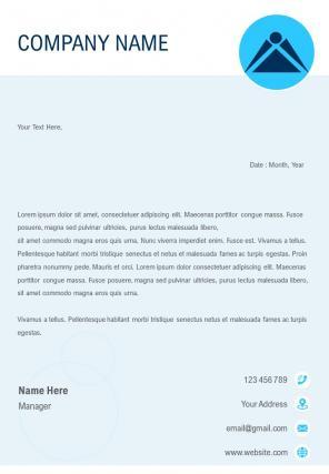 HR Sample Letterhead Design Template