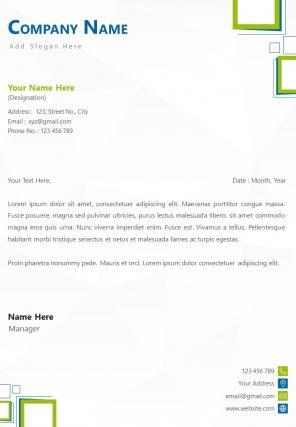 Human Resources Letterhead Design Template