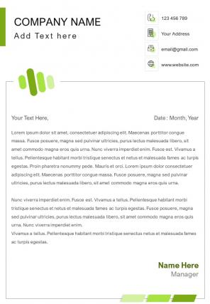Human Resources One Page Letterhead Design Template