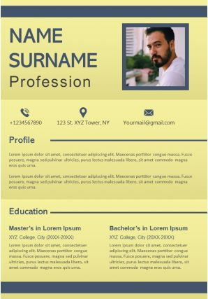 Impressive Resume Powerpoint Design Layout For Self Presentation