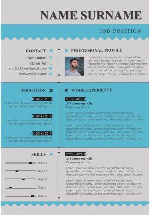 Impressive Visual Resume CV Design Template For Job Application