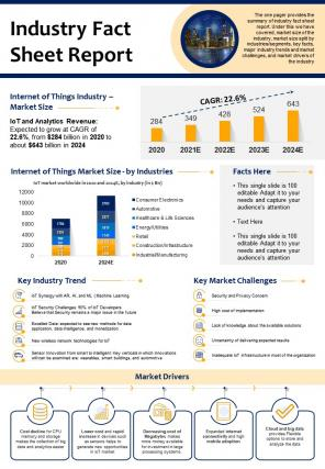 Industry Fact Sheet Report Presentation Infographic PPT PDF Document