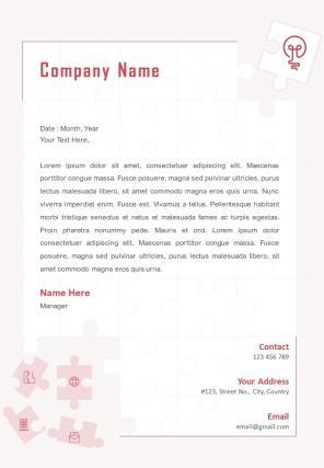 Innovative Letterhead Design Template