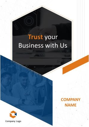 It Services Company Four Page Brochure Template