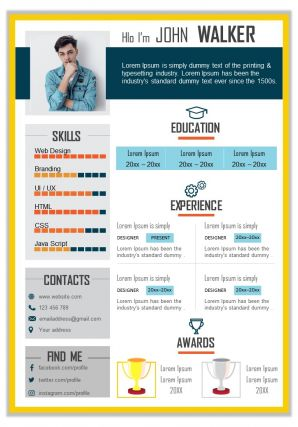 Job Curriculum Vitae Sample For Self Introduction