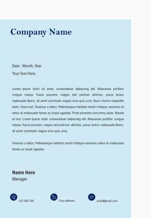 Marketing Agency Company Letterhead Design Template