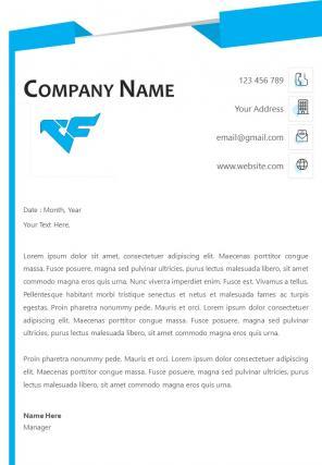 Marketing Company Letterhead Design Template