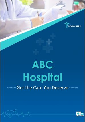 Medical Clinic Flyer Two Page Brochure Template