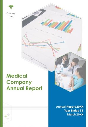 Medical Company Annual Report PDF DOC PPT Document Report Template