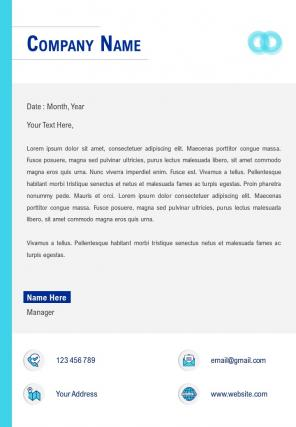 Modern One Page Letterhead Design Template