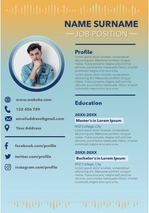 Modern Resume Powerpoint Template To Introduce Yourself