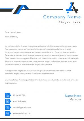 One Page Creative Business Letterhead Design Template
