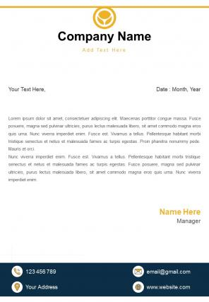 One Page Finance Letterhead Design Template