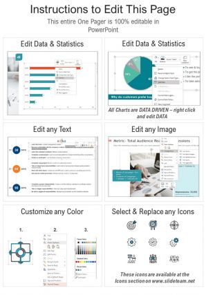 One Page IT Project Charter Presentation Report Infographic PPT PDF Document