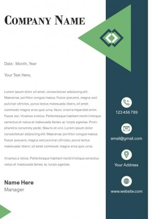 One Page Law Firm Letterhead Design Template