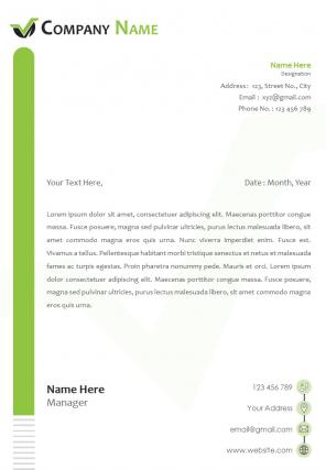 One Page Manufacturing Company Letterhead Design Template