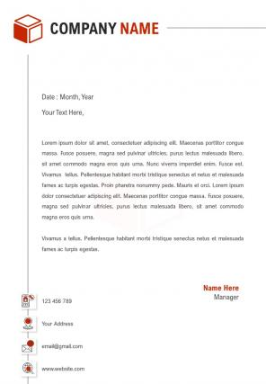 One Page Marketing Agency Letterhead Design Template