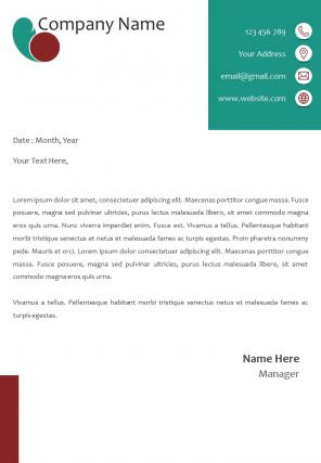 One Page Ptinting Letterhead Design Template