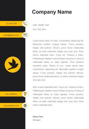 One Page School Educator Letterhead Design Template
