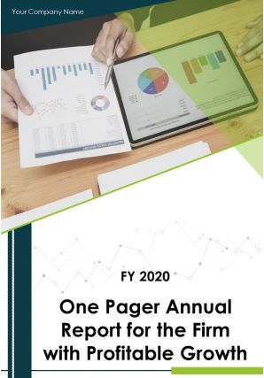 One Pager Annual Report For The Firm With Profitable Growth PDF DOC PPT Document Report Template